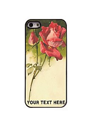 Personalized Phone Case - Sketch Rose Design Metal Case for iPhone 5/5S