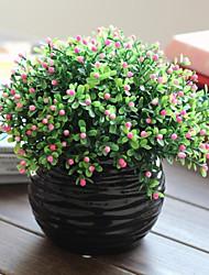 """9 """"h ländlichen Stil Simulation von milan Blumen mit der schwarzen Kugel Well Keramikvase"""