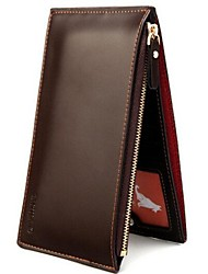 Men's High Quality Slim Multi-Card-Bit Dual-Zipper PU Leather Long Section Wallet(Assorted Colors)