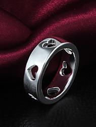 vsilver Damenmode Temperament 925 Silber ausgeschnitten Ring