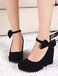 bombas de la plataforma zapatos de punta redonda cuña de las mujeres de los zapatos más colores disponibles
