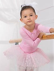 Ballet Tops / Dresses&Skirts / Tutus / Dresses Children's Cotton Long Sleeve 110:50,120:53,130:56,140:59,150:61