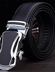 Men Retro fashion leather belt Leather belt Genuine automatic buckle leather belt