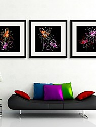E-HOME® Framed Canvas Art,Flower Framed Canvas Print Set of 3