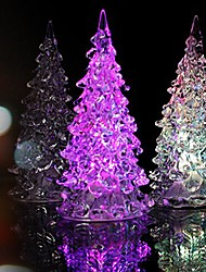 Crystal Christmas Tree Light Colorful LED  Night Light  Small Tree Lamp