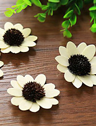Qihang Artificial White Veneer Sun Flowers Photography Props(1 PCS)