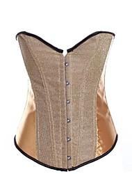 jacquard devant Busk fermeture de femmes désossage corset avec shapewear t-strap
