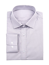 Gray Cotton Solid Shirt