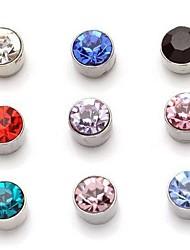 circón succión magnética aretes aretes de diamantes imán ningún agujero de oído un par de precio