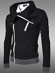 HUIZI Men's Fashion Korea Style Casual Lapel Neck Slim Coat