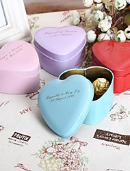 24 Piece/Set Favor Holder-Heart-shaped Metal Favor Boxes Favor Tins and Pails Personalized