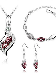 collier en cristal de jeu de la SNA femmes