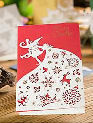 carta taglio cartoline di Natale