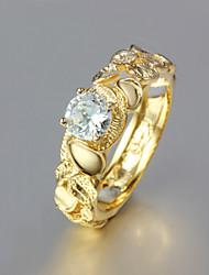 мода темперамент горный хрусталь 18k позолоченный кольцо мигать женщин