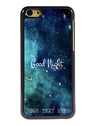 Personalized Phone Case - Good Night Design Metal Case for iPhone 5C
