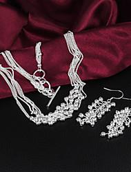 vsilver moda temperamento 925 ternos de prata das mulheres