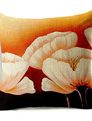 branco do teste padrão floral de algodão grandes / roupa cobertura decorativa travesseiro