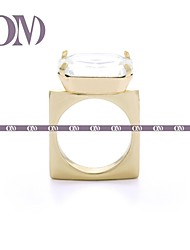OM® Gold-tone Big Gem Square Ring