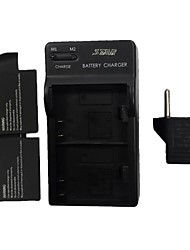 STAR™ 900mAh Battery with US Plug DSTE Dual-Slot Battery Charger with Eu Plug for SJ4000 WiFi (2 Batteries + 1 Charger)
