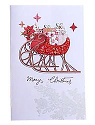 telas destacan tarjeta de Navidad