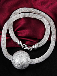 Uyuan Women's 925silver Delicacy Silver Ornament Necklace