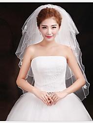 Beauty Four-tier Wedding Veil With Pencil Edge
