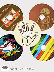 Personalized CD-R/DVD-R Recordable Disc Creative Pattern Different Designs Magic Gift (Set of 5)