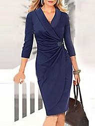 vicone Frauen ¾-Arm sexy bodycon schlanke Kleider