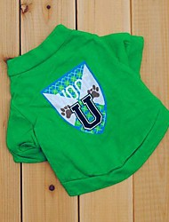 Summer Wedding / Cosplay Cotton T-Shirt for Dogs / Cats Green XS / S / M / L