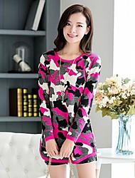vestido delgado de la cachemira de cuello redondo de las mujeres (más colores)