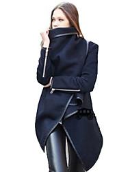 abrigo de manga larga vaina de Monika mujeres