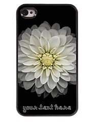 Personalized Phone Case - Big Lotus Design Metal Case for iPhone 4/4S
