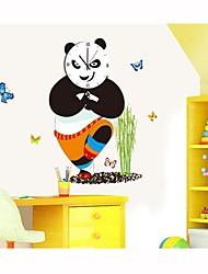 desenhos animados diy relógio de parede panda