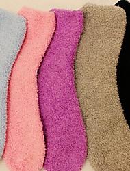 color sólido para mantener calcetines calientes (color al azar)