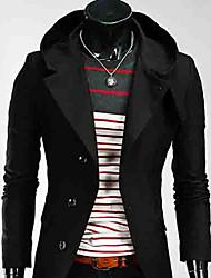 lapela casaco de gola hoodie dos homens de moda masculina