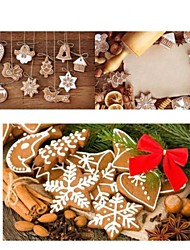 11 set di argilla fatti a mano di Natale appesi per alberi di Natale