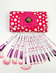 18pcs Professional Lovely Perfect Makeup Cosmetic Brush Set Face Eye Shadow Kit with Cute Bag