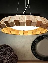 luz de ferro forjado, luzes pingente estilo contratado contemporânea teto 1 luz, ferro fora de madeira cores primárias