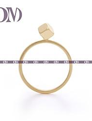 om® золотой тон куб деталь кольцо