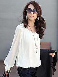 kamengsi женская мода случайные слоеного рукав блузки