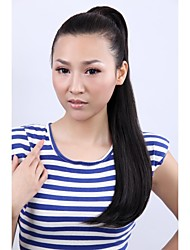 Long Curly Natural Black Hair Ponytail Vivid and Charming