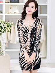 vestido de cachemir géneros de punto cuello redondo de las mujeres