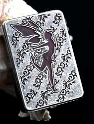 Personalized Engraving Angel Pattern  Metal Electronic Lighter