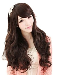 Woman Lovely Long Side Bang Synthetic Wavy Wigs