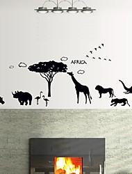 Wandaufkleber Wandtattoo, afrikanischen Stil schwarze Tiere PVC Wandaufkleber