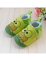 Boys' Baby Flats First Walkers Crib Shoes Cotton Spring Fall Winter Athletic Gore Flat Heel Green Flat