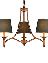 Chandelier ,  Modern/Contemporary Traditional/Classic Rustic/Lodge Vintage Country Antique Brass Feature for Waterproof MetalLiving Room