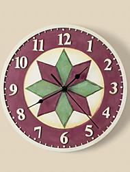 """9 """"h motif géométrique polyrésine horloge murale"""