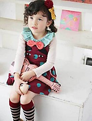 Girl's Patchwork Dress,Cotton Spring / Fall