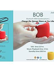 final jabees®high portátil mini alto-falante Bluetooth com capa de esponja para o telefone móvel